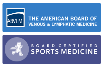 Board Certification logos for the ABVLM & Sports Medicine
