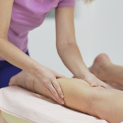 Patient getting a lymphatic massage