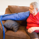 Older woman being treated with lymphedema therapy